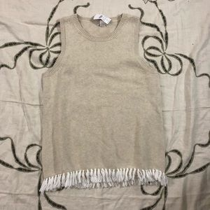 J. Crew sweater vest with fringe